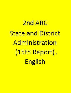 2nd ARC State and District Administration (15th Report) - English