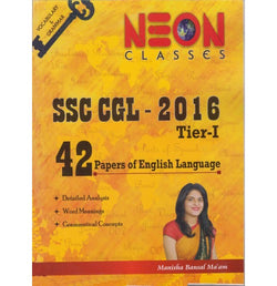 Neon Publication, Jaipur [SSC CGL - 2016 TIER - I 42 Papers of English Language, Paperback] by Manisha Bansal