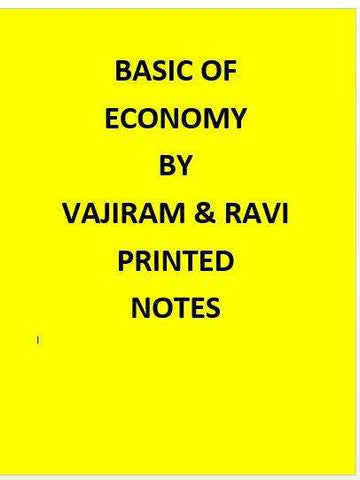 Basic Economics Printed Notes By Vajiram -English