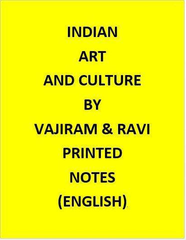 Vajiram & Ravi Indian Indian Art And Culture Notes Printed-English