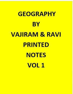 Geography Optional  Printed Vajiram & Ravi Notes-English