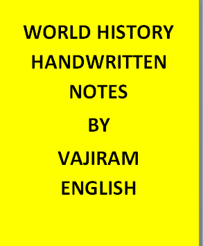 Vajiram & Ravi World History Notes Handwritten -English