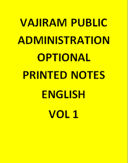 Vajiram & Ravi Public Administration Optional Notes
