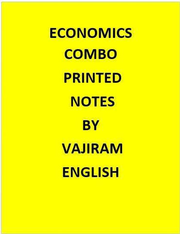 Economics Combo Printed Notes By Vajiram -English