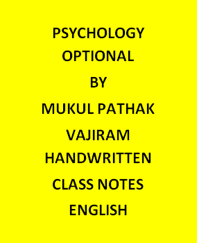 Vajiram & Ravi Psychology Optional Notes