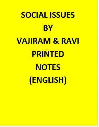 Vajiram & Ravi Political Social Issues Notes