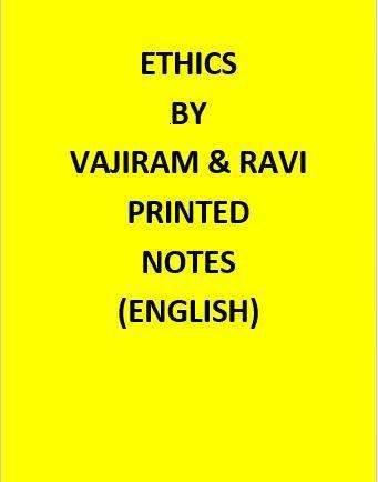 Ethics Printed Vajiram & Ravi Notes -English