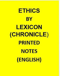 Lexicon by Chronicle–Ethics Integrity and Aptitude – Printed Photocopy-English