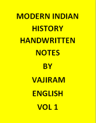 Vajiram & Ravi  Modern Indian History Notes