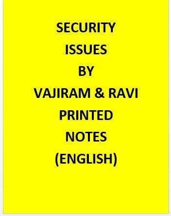 Vajiram & Ravi Security Issues Notes