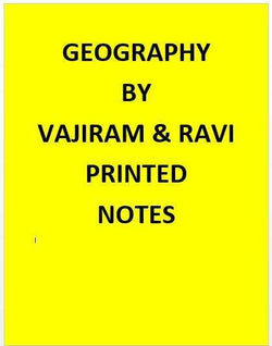 Vajiram & Ravi  Geography Notes Printed -English