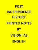 Vision IAS Post independence History Printed Notes -English