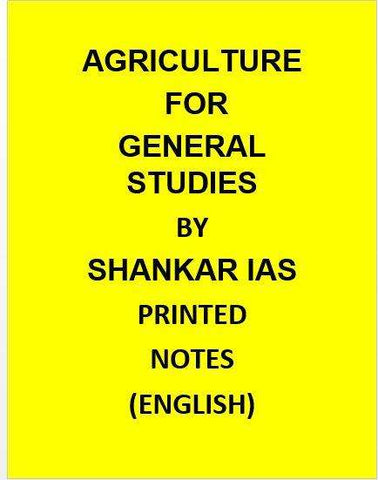 Shankar IAS – Agriculture for General Studies-English