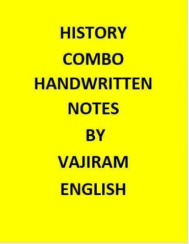 Vajiram & Ravi  History Notes Handwritten -English