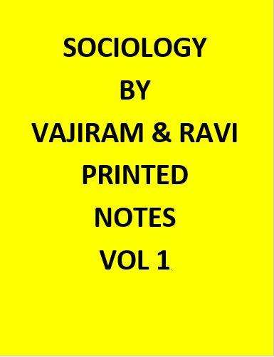 Vajiram & Ravi World Sociology Optional Notes Printed -English