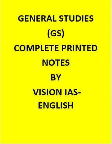 Complete Printed Vision IAS General Studies Material -English