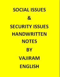 Social Issues & Security Issues Handwritten Notes By Vajiram -English
