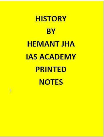 History Optional – Hemant Jha (ALS)– Printed Notes-English