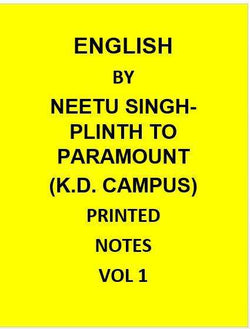K.D. Campus Coaching Printed Notes Of English by Neetu Singh-Plinth To Paramount