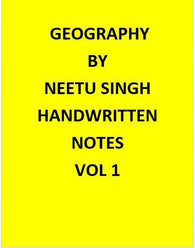 Neetu Singh Geography Optional Handwritten Notes-English
