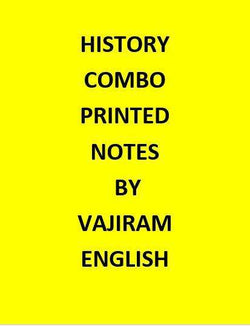 Vajiram & Ravi  History Notes Printed  -English