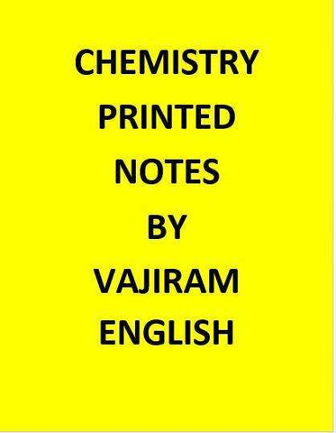 Printed Chemistry Notes for IAS By Vajiram -English