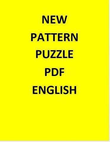 New Pattern Puzzle PDF - English