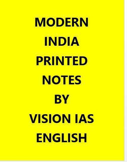 Vision IAS Modern India Printed Notes -English