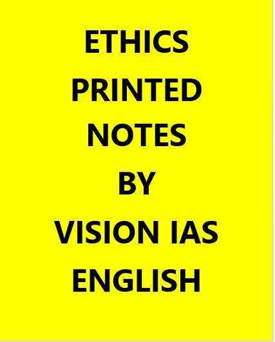 Vision IAS Ethics Notes Printed -English