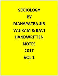 Mahapatra sir sociology notes