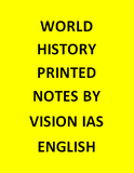 vision IAS World History Notes Printed -English