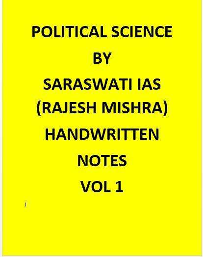 Rajesh Mishra – Political Science Optional  Handwritten Notes (Hindi Medium)