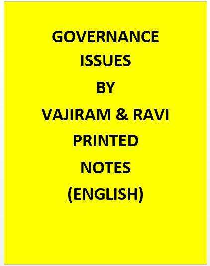 Vajiram & Ravi  Governance Issues Notes Printed -English