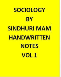 Sinduri Mam – Sociology Optional – Handwritten Class Notes-English