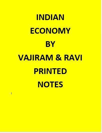 Vajiram & Ravi Indian Economy Notes Printed -English