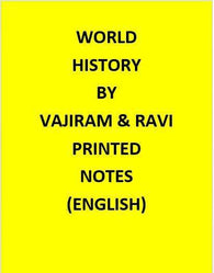 Vajiram & Ravi World History Notes Printed -English