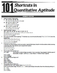 101 Shortcuts in Quantitative Aptitude Free Soft Copy