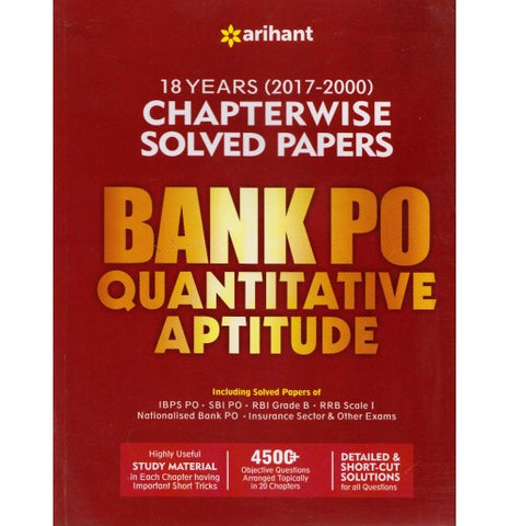 18 Years (2017-2000) Chapterwise Solved Papers Bank Quantitative Aptitude (English, Paperback) by Arihant Expert