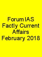 ForumIAS Factly Current Affairs February 2018 N