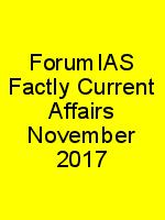 ForumIAS Factly Current Affairs November 2017 N