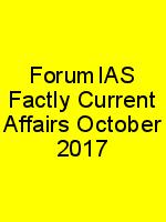 ForumIAS Factly Current Affairs October 2017 N