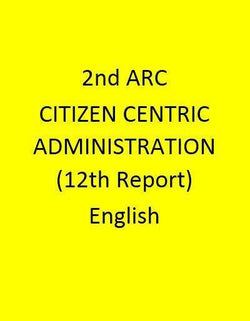 2nd ARC CITIZEN CENTRIC ADMINISTRATION (12th Report) - English