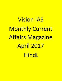 Vision IAS Monthly Current Affairs Magazine – April 2017-Hindi