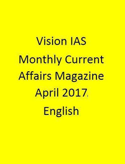 Vision IAS Monthly Current Affairs Magazine – April 2017-English