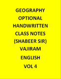 Geography Optional Handwritten Class Notes Shabeer Sir Vajiram-English