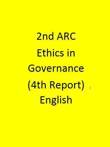2nd ARC Ethics in Governance (4th Report) - English