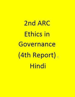 2nd ARC Ethics in Governance (4th Report) -Hindi