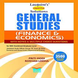 Lawpoint's Competitive Solutions General Studies (Finance and Economics) with Notes and MCQs for SSC Combined Graduate Level Exam