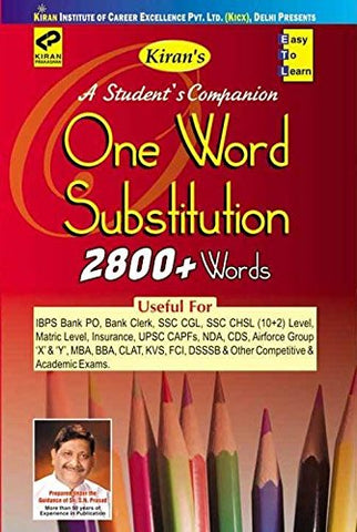 One Word Substitution(English) 2800+ Words
