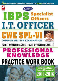 Kiran's IBPS Specialist Officer I.T. Officer CWE – VI Professional Knowledge Practice work Book - 1754